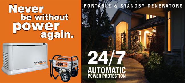 Generac - Portable & Standby Generators